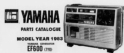 Yamaha 1983 Ef600 Generator Parts List Catalog Ebay