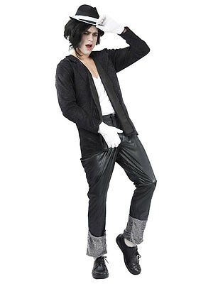 Fancy Dress Costume Mens Michael Jackson Billie Jean King Of Pop 1980s 80s New