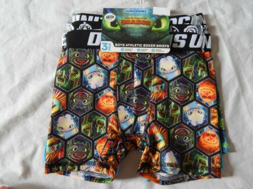 How to Train Your Dragon Boxer Briefs UNDEROOS Underwear Compression NEW Boys