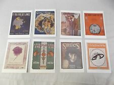Unique Song Cards with Sheet Music inside The Bottom Line lot of 8 100254