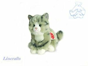 Grey-Kitten-Plush-Soft-Toy-Cat-by-Teddy-Hermann-Collection-90606