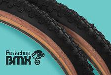 "Kenda Comp 3 III old school BMX skinwall gumwall tires 20"" X 1.75"" BLACK (PAIR)"