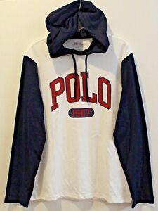 Polo-Ralph-Lauren-Big-Tall-Mens-White-Blue-Polo-1967-Hoodie-L-S-T-Shirt-NWT-XLT