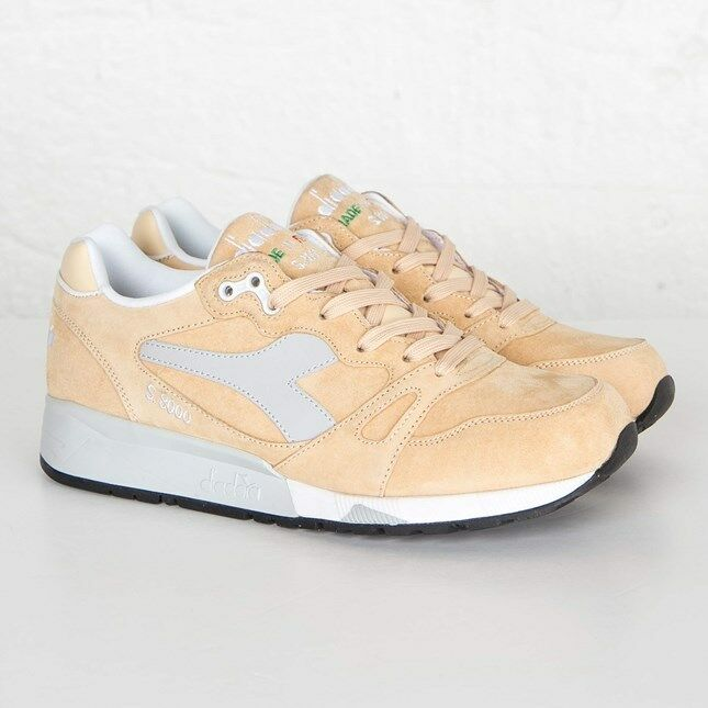 Diadora S8000 Italia 25137 Beige Wheat Men Size US 9.5 NEW 100% Authentic