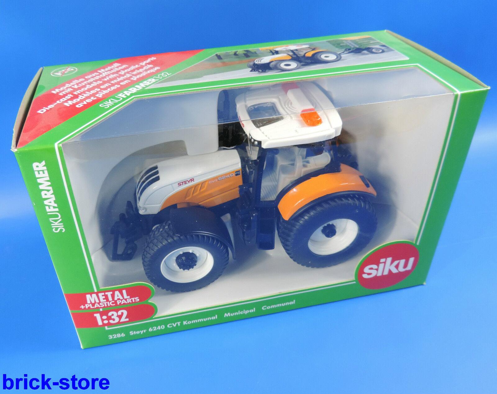 SIKU 3286   1 3 2 SIKU AGRICULTEUR   Steyr 6240 CVT COMMUNAL