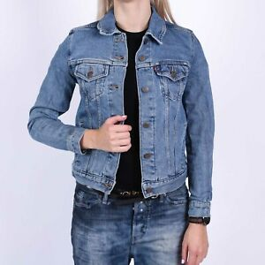 Levi-039-s-Original-Trucker-Throw-Elbows-blau-Damen-Jacket-Groesse-M