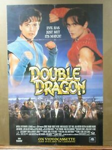 Vintage Double Dragon Movie Poster Original 1994 Arcade 1997 Ebay