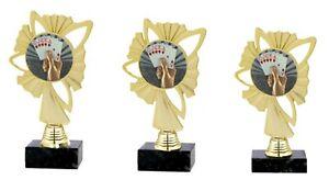 "3er Serie Pokale ""Kartenspiel"" (570a-K) H=23,5-21,5 cm inkl.Gravur 23,95 EUR"