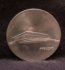 1965 ISRAEL SILVER 5 LIROT UNC KNESSET BUILDING 17th ANNIVERSARY INDEPENDENCE