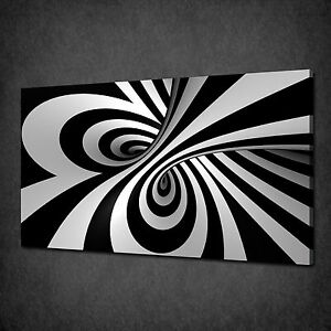 Image Is Loading BLACK AND WHITE SWIRL ABSTRACT CANVAS WALL ART