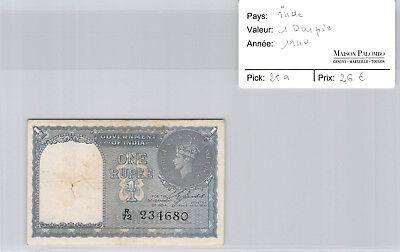 100% Waar Inde 1 Roupie 1940 N° R72 234680 Pick 25a