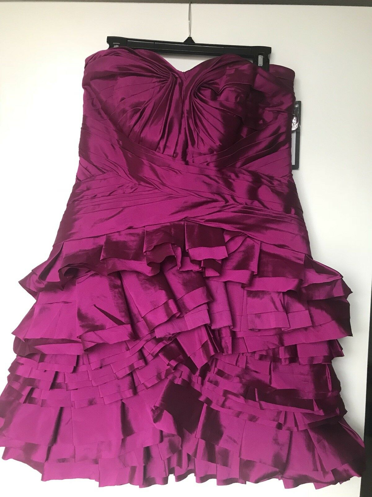 7900caeb7 NEW LHUILLIER Formal Evening Bridesmaid Dress Gown 698 Size 14 ...
