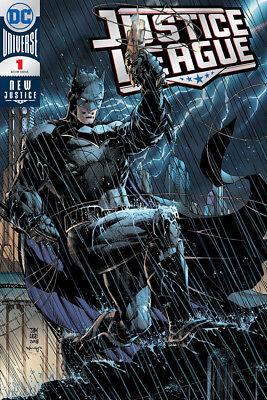 2018 SDCC DC exclusive Justice League #1 Jim Lee Silver Foil Variant