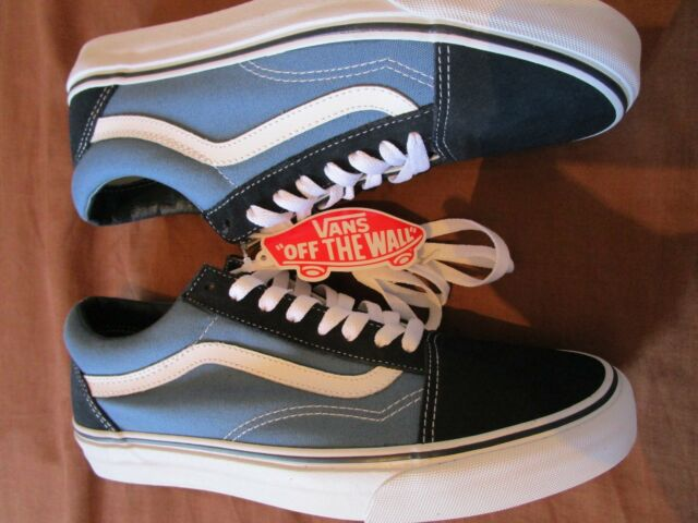 great prices latest discount amazing price NEW MENS GENUINE AUTHENTIC BLUE VANS OLD SKOOL SIZE UK 8 EU 42 NAVY SUEDE  <27cm