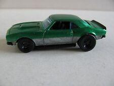 Hot Wheels Custom '68 Copo Camaro Green/Grey W/ Real Riders 1/64