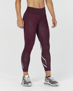 2XU - Women's  Mid Rise Print 7 8 Comp.Tight (WA4629b-PKD WHT) Size  XL - 50% Off  outlet on sale
