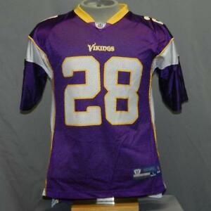 best service 681cb 49f7b Details about Adrian Peterson #28 Minnesota Vikings NFL Football Purple  Reebok Jersey Youth L