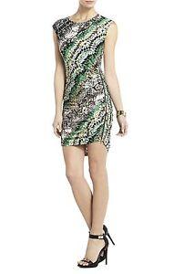 New bcbg max azria dell zipper shirring dress anu6w294 m332 size xxs