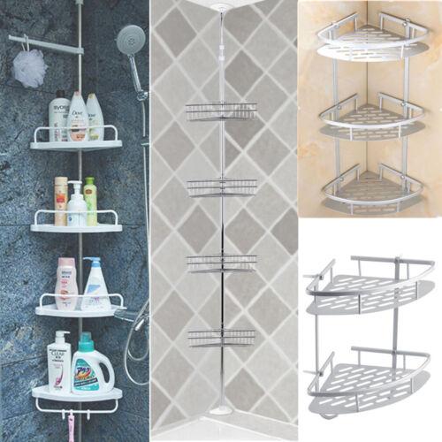 2//3//4 Tier Bathroom Bath Shower Caddy Shelf Wall Corner Rack Storage Organizer