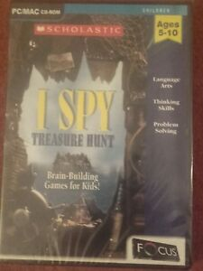 "Official Website ""i Spy Treasure Hunt"" Game Pc/mac Cd-rom Focus Multimedia Brand New & Sealed Lustrous Surface"