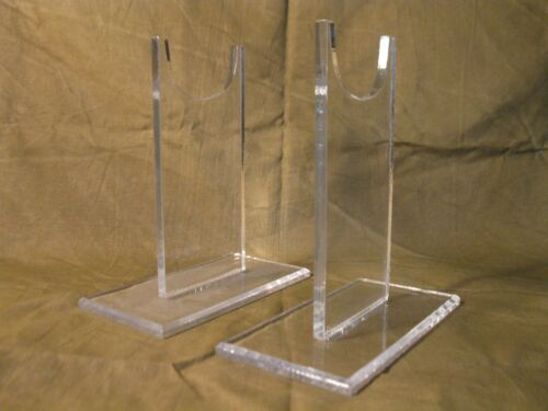 """Three sets of rifle stands 5/"""" inch plus 7/"""" and 9/"""" Premium Acrylic Display stands"""