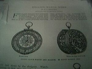 book article 1897  english watch work f j britten clock watch alarum 5 pages - Leicester, United Kingdom - book article 1897  english watch work f j britten clock watch alarum 5 pages - Leicester, United Kingdom