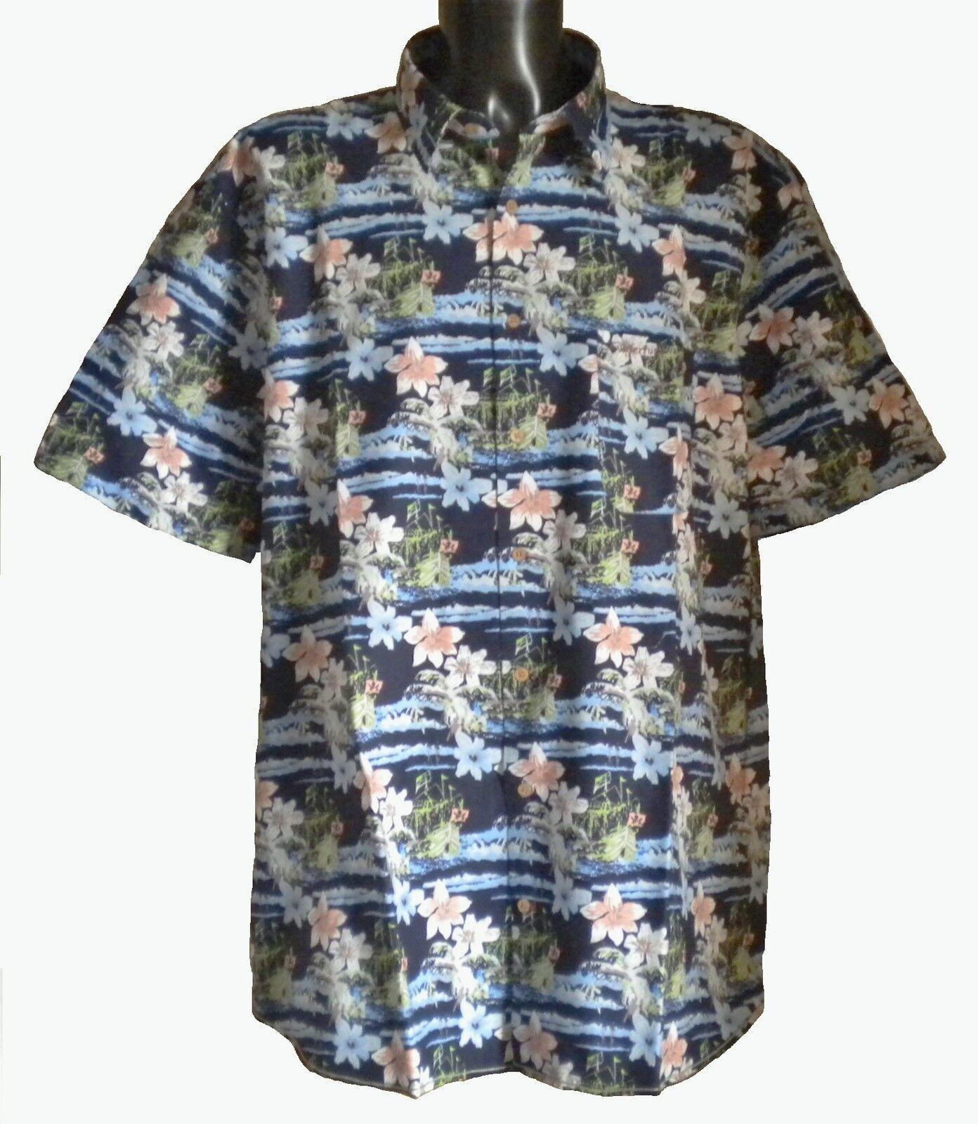 NEW Mens Big Size Espionage Floral Hawaiian Shirt 3XL 4XL 5XL 6XL 7XL