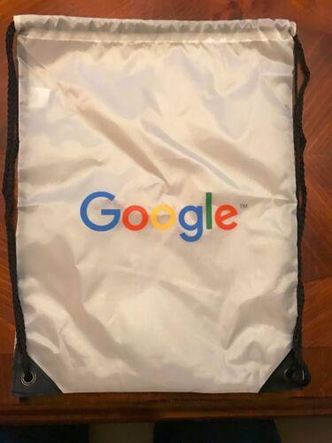 Google Drawstring Backpack White Black New
