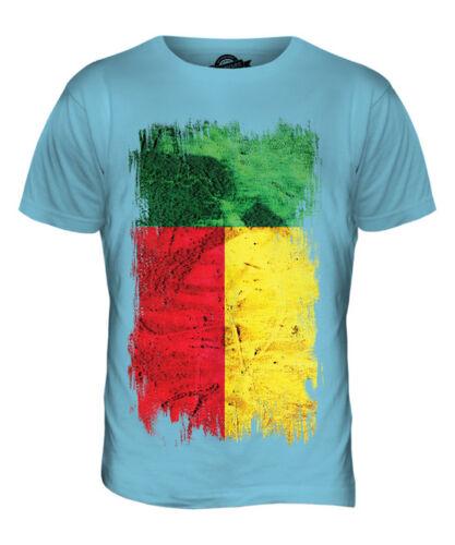 BENIN GRUNGE FLAG MENS T-SHIRT TEE TOP B?NIN BENINOIS BENINESE SHIRT FOOTBALL