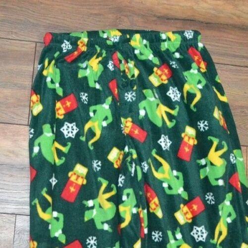 ELF Buddy the Elf FLEECE LOUNGE PANTS PJ Bottoms Green Size Medium or XL