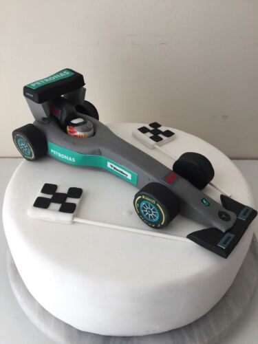 Edible LARGE FORMULA 1 CAR  Cake Decoration Cake Topper of your choice