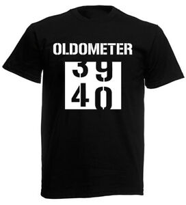 Image Is Loading Oldometer 40th T Shirt Funny Mens Birthday