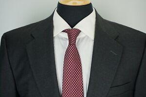 Hickey-Freeman-Madison-Charcoal-Gray-S120s-Loro-Piana-Wool-2-Pc-Suit-Sz-42L