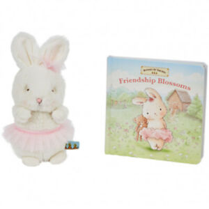 Bunnies-By-The-Bay-Cricket-Island-Friend-Blossoms-Book-Set-Soft-Plush-Toy