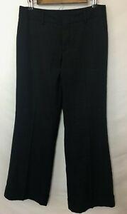 Banana-Republic-Martin-Fit-Women-039-s-Dress-Pants-Black-on-Black-Crosshatch-Size-8