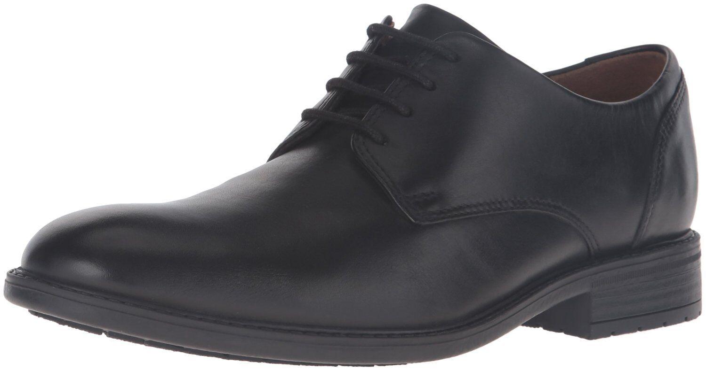 Men's Clarks Truxton Plain Lace Up Oxford WaterProof shoes Black 26119705