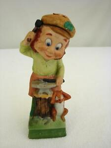 Details about Vintage 1977 Hoffman Whiskey Decanter Mr Blacksmith  Leprechaun Lucky Irish Empty
