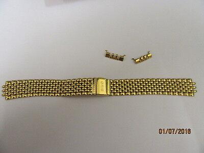 Analytisch Genuine Oris Watch Bracelet 71840 With End Pieces For 7460 Gold Plated Mit Den Modernsten GeräTen Und Techniken