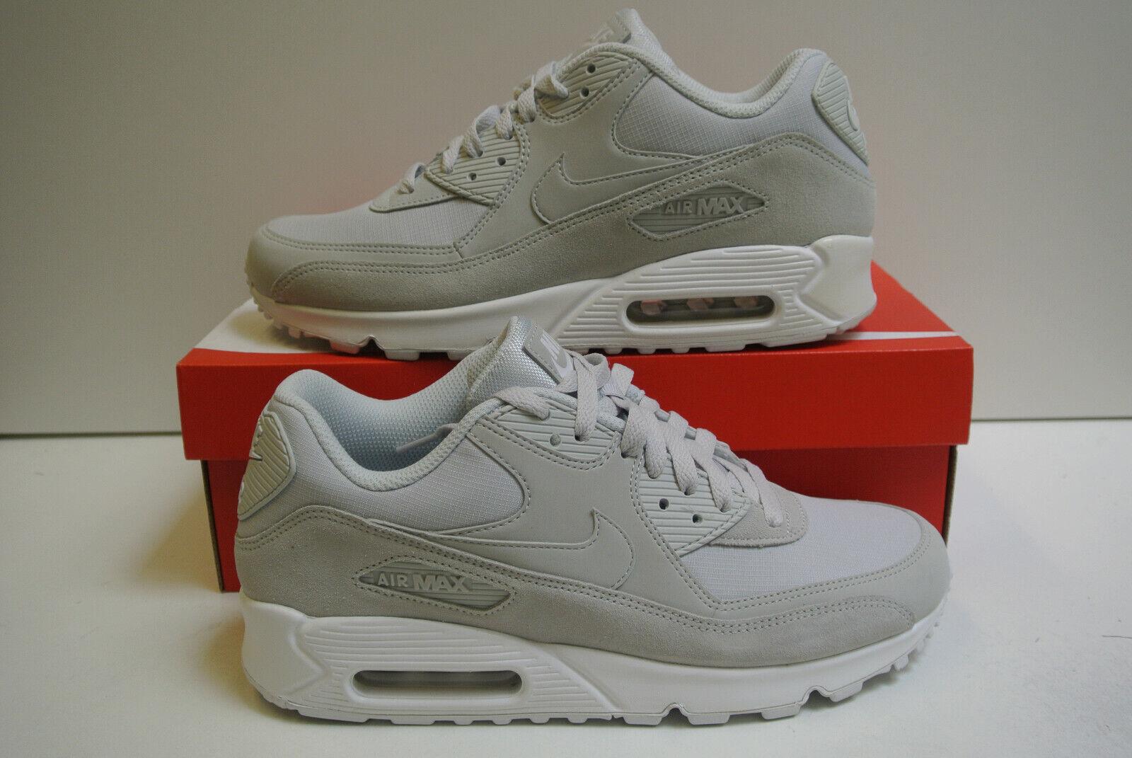 Nike Air Max 90 Essential Schuhe Sneaker Herren Echtleder Grau Blau