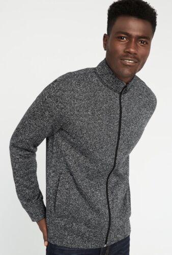 Old Navy Full-Zip Sweater-Fleece Jack Black Heather Size Med New