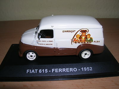 "Atlas Fiat 615 "" Ferrero "" Transporter Van Year 1952 1:43 With The Most Up-To-Date Equipment And Techniques Automotive"