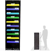 Chart Pocket Wall Mount Storage Hang Magazine Rack Folder Office Document File