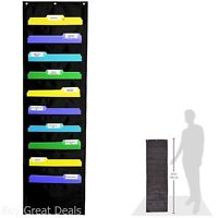 Chart Pocket Wall Mount Storage Hang Magazine Rack Folder Office Document File