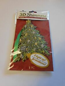 Paper House Shimmers 3D Ornament Gift Tag Lights Up Christmas Tree Ornaments