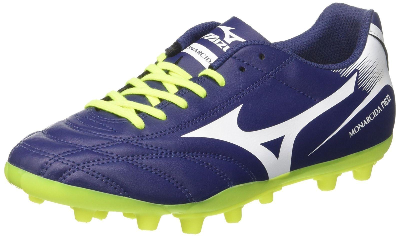 ecd94ed90 MIZUNO MONARCIDA NEO AG blue BIANCO P1GA172502 shoes calcio calcetto  ORIGINALI