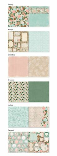 BoBunny Felicity Scrapbook  Paper Kit  12 pcs Bo Bunny Lot 12x12 2016