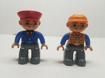 Lego Duplo Man Lumberjack//Construction Worker Figure