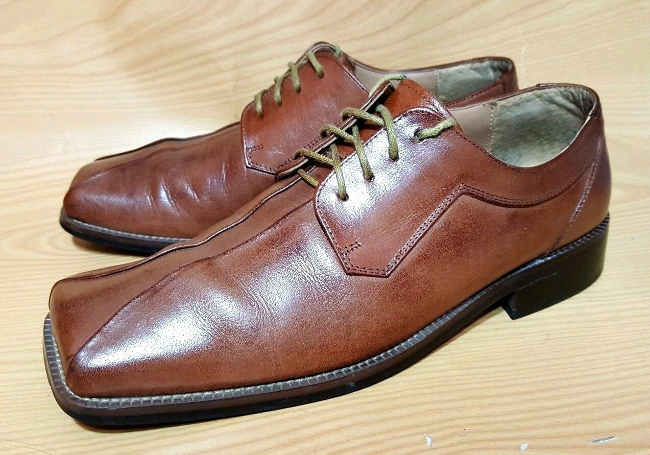 Zengara Mens Brown Leather Oxfords shoes 9.5 M
