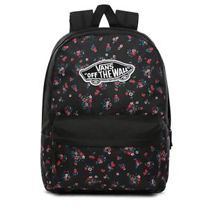 Vans Realm Backpack/Rucksack for School/Work/Travel in Black/Floral