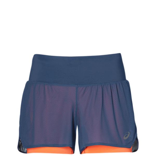 Asics Cool 2IN1 Shorts Blau Damen Laufen Sport Slip 2019 – 2012A259-400